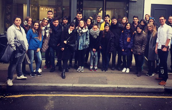 students from Idep Barcelona at WMH London